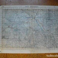 Militaria: GUERRA CIVIL MAPA DE SAN LORENZO EJERCITO NACIONAL E 1:50000. Lote 206140992