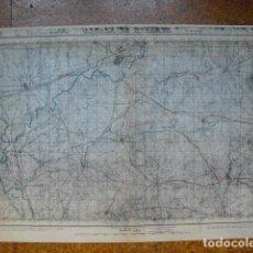 Militaria: GUERRA CIVIL MAPA DE ALCALA DE HENARES EJERCITO NACIONAL E 1:50000. Lote 206143110
