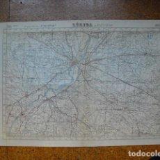 Militaria: GUERRA CIVIL MAPA DE LERIDA EJERCITO NACIONAL E 1:50000. Lote 206145832