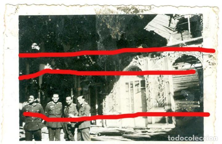 DIVISION AZUL. ANTIGUA FOTO 9 X 6 CM LEER BIEN LA DESCRIPCION (Militar - Fotografía Militar - II Guerra Mundial)
