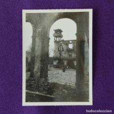 Militaria: FOTOGRAFIA ORIGINAL DE LA GUERRA CIVIL. BOMBARDEO DE AMOREBIETA. 31 DE MARZO DE 1937.. Lote 206455318