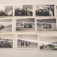 Militaria: EJERCITO ALEMÁN NAZI ENCUENTRO INSPECCION TERRENO, 15 FOTOGRAFIAS. MED. 9 X 6 CM. Lote 206458310