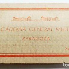 Militaria: ALBUM DE 21 POSTALES DE LA ACADEMIA GENERAL MILITAR DE ZARAGOZA,SERIE B. Lote 206824113