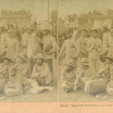 Militaria: GUERRA HISPANOAMERICANA FILIPINAS 1899. SOLDADOS ESPAÑOLES PRISIONEROS DE AGUINALDO. Lote 207035610