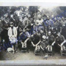 Militaria: FOTOGRAFÍA ANTIGUA. BANDA MILITAR DE FALANGE. (9 X 6 CM). Lote 207072317