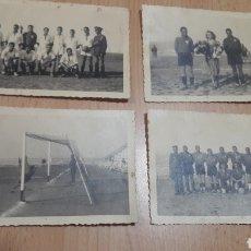 Militaria: 4 FOTOS POSTALES ROS EQUIPO DE FUTBOL INGENIEROS Y SANIDAD-CEUTA 1941. Lote 207109647