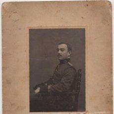 Militaria: TOLEDO.- OFICIAL ACADEMÍA DE INFANTERÍA DE TOLEDO 1910. FOTO J. FADRO. DEDICATORIA. 16X20. TOTALES. Lote 207862882