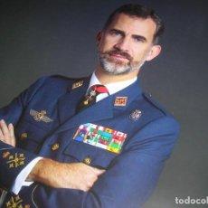 Militaria: RETRATO OFICIAL DE SU MAJESTAD EL REY FELIPE VI. CAPITAN GENERAL DEL EJERCITO DEL AIRE. GRAN TAMAÑO.. Lote 207883352