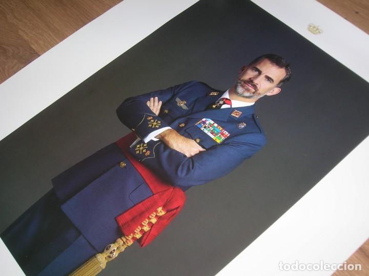 Militaria: RETRATO OFICIAL DE SU MAJESTAD EL REY FELIPE VI. CAPITAN GENERAL DEL EJERCITO DEL AIRE. GRAN TAMAÑO. - Foto 4 - 207883352