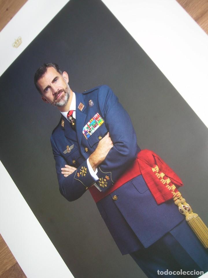 Militaria: RETRATO OFICIAL DE SU MAJESTAD EL REY FELIPE VI. CAPITAN GENERAL DEL EJERCITO DEL AIRE. GRAN TAMAÑO. - Foto 5 - 207883352