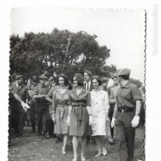 Militaria: ANTIGUA FOTOGRAFIA MONTEJURRA -MILITARES PRINCESA CARLISTA - CARLISMO REQUETE - 14X9CM. Lote 208287905