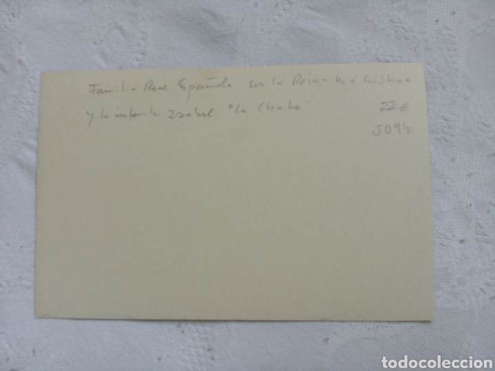 Militaria: Fotografía postal familia real española años 20. Alfonso XIII.Reina Maria Cristina.españa.monarquia. - Foto 2 - 208488036