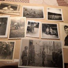 Militaria: LOTE 16. WW2. ALEMANIA. 10 FOTOGRAFÍAS ORIGINALES 1939 1945. Lote 208898848