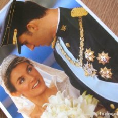 Militaria: FOTOGRAFIA DE BODA DEL ENTONCES PRINCIPE DE ASTURIAS DON FELIPE Y DE DOÑA LETIZIA. Lote 208995515