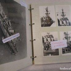 """Militaria: ARMADA ESPAÑOLA """" MARQUES DE LA ENSENADA"""" - ALBUM 58 FOTOS, B/N, APROX 1975, EQUIPAMIENTO, ACTO +. Lote 209598298"""