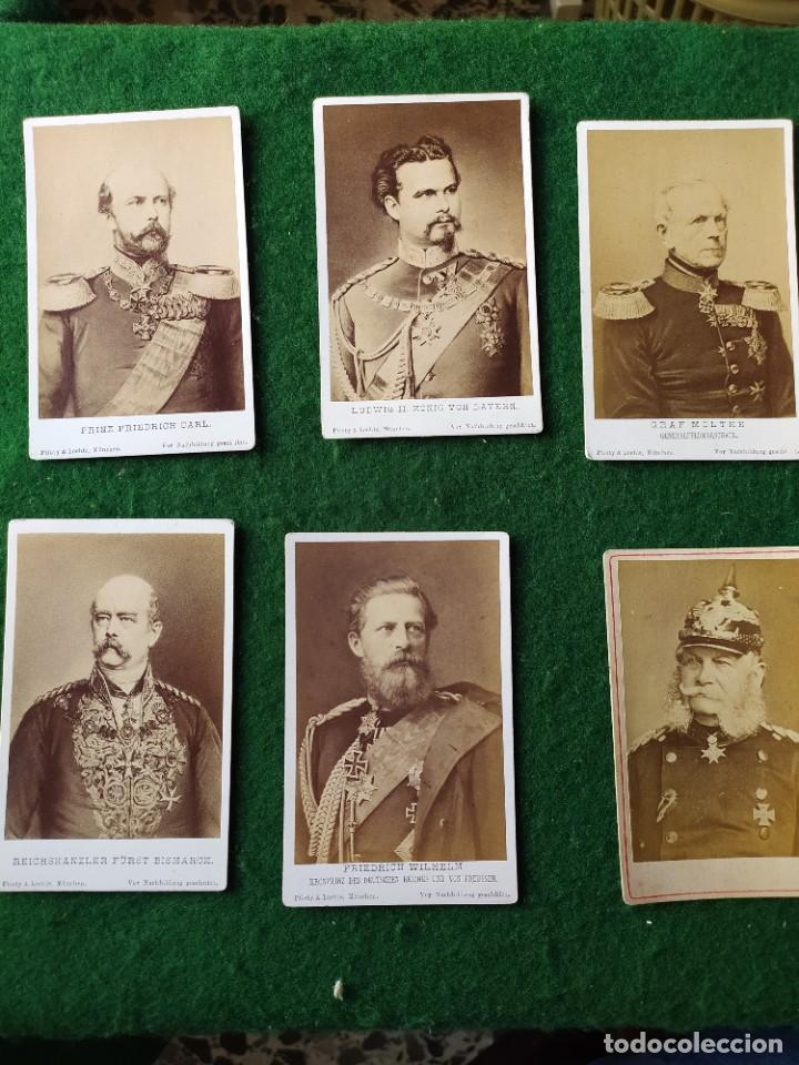 LOTE DE 6 CARTAS DE GENERALES DE LA ALEMANIA IMPERIAL (Militar - Fotografía Militar - I Guerra Mundial)
