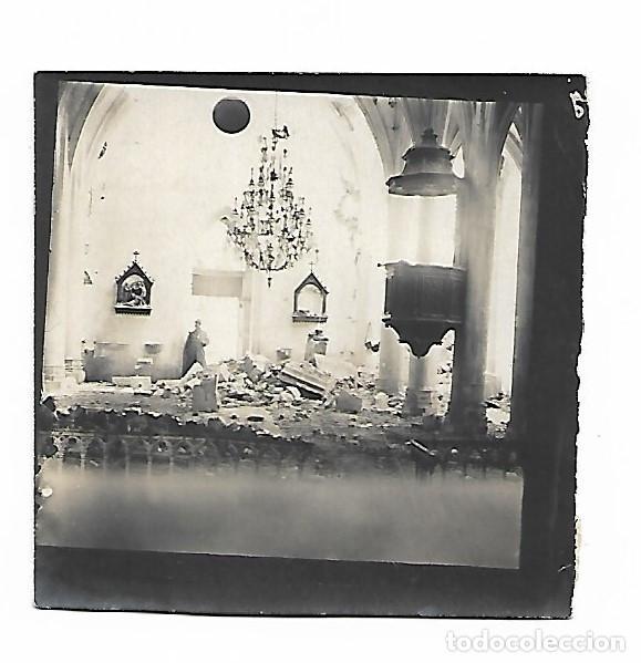 FOTOGRAFIA IGLESIA BOMBARDEADA (Militar - Fotografía Militar - I Guerra Mundial)