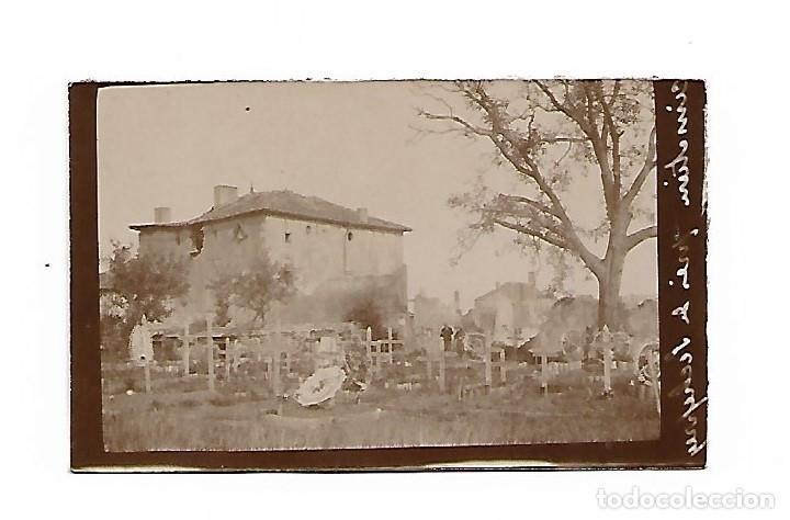 FOTOGRAFIA CEMENTERIO BOMBARDEADO (Militar - Fotografía Militar - I Guerra Mundial)