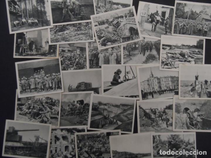DER WELTKRIEG 1914-18. 44 CROMOS I GUERRA MUNDIAL. EN BLANCO Y NEGRO. ED. AÑO 1936 (Militar - Fotografía Militar - I Guerra Mundial)