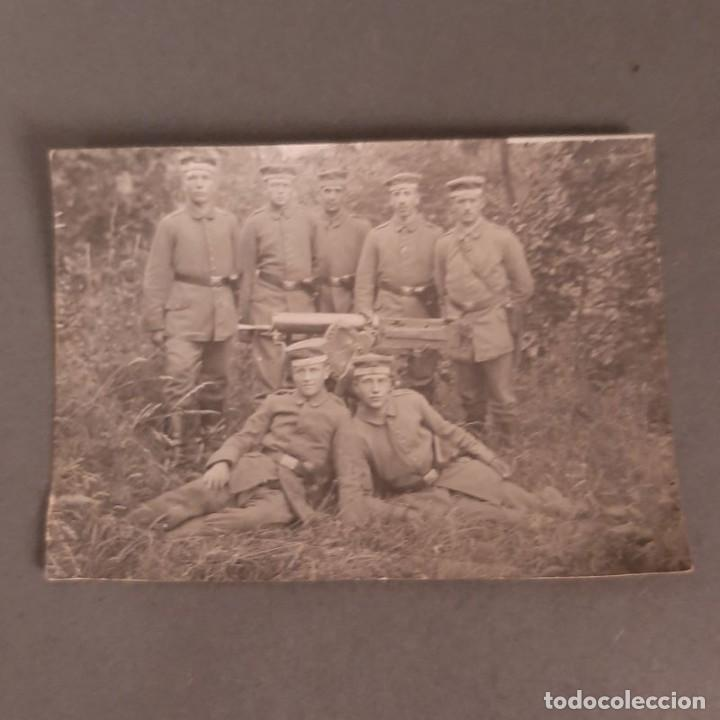 FOTOGRAFIA DE SOLDADOS ALEMANES CON AMETRALLADORA. SEGUNDA GUERRA MUNDIAL 1914 - 1918 (BRD) (Militar - Fotografía Militar - I Guerra Mundial)