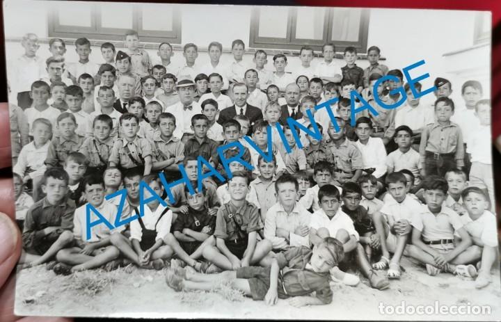 LA LINEA DE LA CONCEPCION, GUERRA CIVIL, GRUPO DE FLECHAS, FALANGE, MAGNIFICA.14X9 CMS (Militar - Fotografía Militar - Guerra Civil Española)