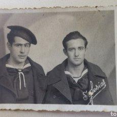 Militaria: FOTOGRAFÍA 2 MARINEROS ARMADA ESPAÑOLA ESCUELA DE TELEGRAFISTAS -MARINA DE GUERRA -GUERRA CIVIL 1936. Lote 210318661