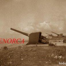 Militaria: BATERIAS DE COSTA - MENORCA - 1940'S - 3 NEGATIVOS DE CELULOIDE. Lote 210347222