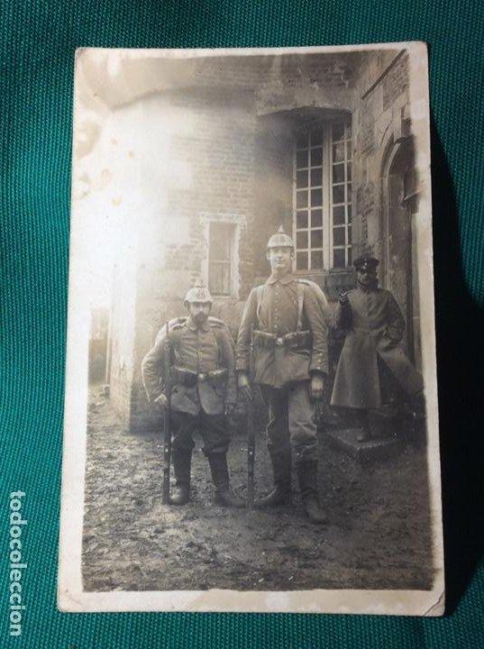 MUY CURIOSA FOTO MILITAR IG.M. (Militar - Fotografía Militar - I Guerra Mundial)