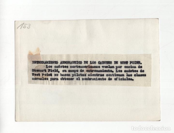 Militaria: AVIACIÓN.- ENTRENAMIENTO AERONAUTICO DE LOS CADETES DE WEST POINT. 15X10,5 - Foto 2 - 210766171