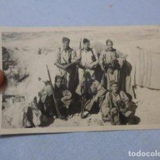 Militaria: * ANTIGUA FOTOGRAFIA DE REGULARES, GUERRA CIVIL O AFRICA, ORIGINAL. ZX. Lote 210968632