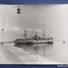 Militaria: FOTOGRAFÍA (24X18) BUQUE ARMADA: ARAGON TA-11, PUNTA DE SAN FELIPE (CÁDIZ). AÑOS 70. REPORTAJES CASO. Lote 211489585