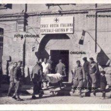Militaria: HOSPITAL GUERRA 71 CRUZ ROJA ITALIANA CTV ALCAÑIZ (TERUEL) 1938 GUERRA CIVIL ESPAÑOLA. Lote 211585196