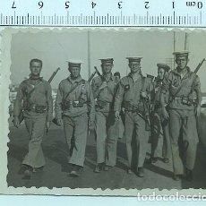 Militaria: FOTOGRAFÍA SOLDADO MARINERO DE MILICIAS NAVALES SAN FERNANDO (CADIZ )1952. Lote 211610574