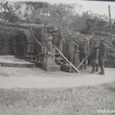 Militaria: PIEZA DE 149 LONG. EN POSICION CARGANDO. FRENTE ITALIANO. 12,5 X 17 CMS. EJERCITO FRANCES. AÑO 1917. Lote 211636489