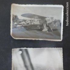 Militaria: GUERRA CIVIL 2 FOTOGRAFIAS AVIONES ALEMANAS DE LA LEGION CONDOR HEINKEL 111 Y HEINKEL 51 6 X 9 CMTS. Lote 211823207