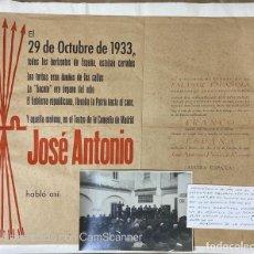 Militaria: JOSE ANTONIO PRIMO DE RIVERA. ULTIMO DISCURSO EN EL PTO SANTA MARIA. 1933. VER FOTOS. Lote 211972006
