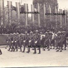 Militaria: PARADA MILITAR VICTORIA FRANCO MADRID SOLDADOS CTV ITALIANOS CABALLERIA GUERRA CIVIL. Lote 212238995