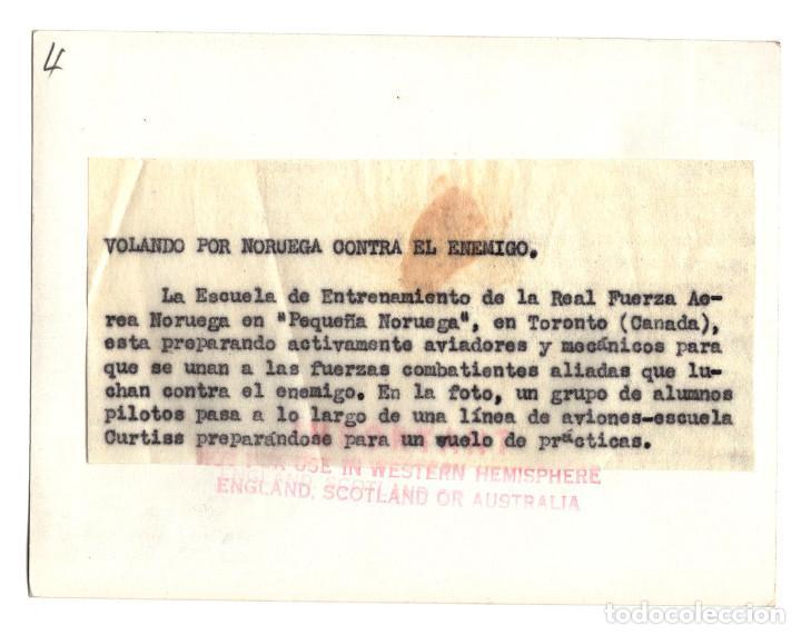 Militaria: AVIACIÓN.- VOLANDO POR NORUEGA CONTRA EL ENEMIGO. 10,5X14. - Foto 2 - 212410987