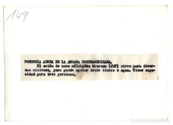 Militaria: AVIACIÓN.- POTENCIA AEREA DE LA ARMADA NORTEAMERICANO. AVIÓN GRUMMAN. 12X17. - Foto 2 - 212412655