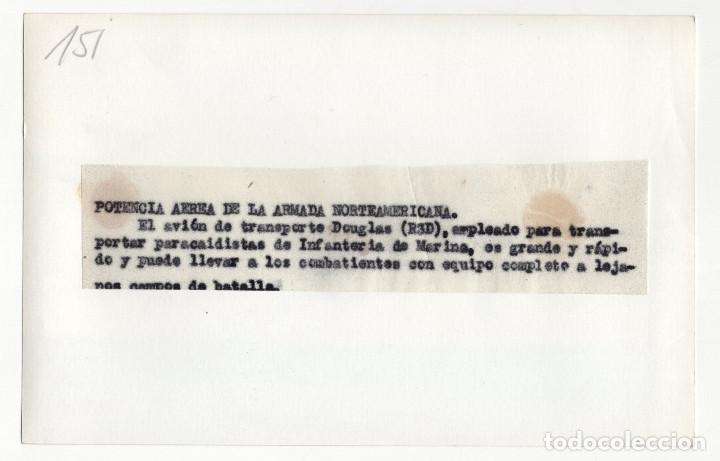Militaria: AVIACIÓN.- AVIÓN TRANPORTE DOUGLAS. 10,5X17. - Foto 2 - 212413538