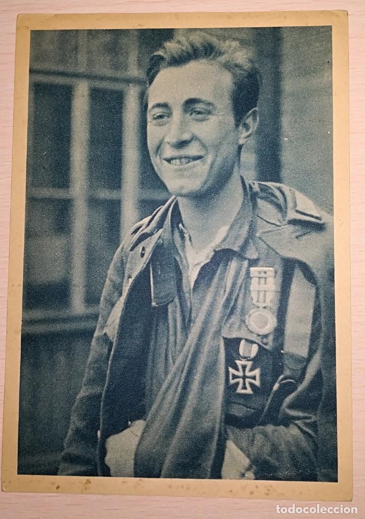 POSTAL DIVISION AZUL ALFEREZ ESCOBEDO (Militar - Fotografía Militar - II Guerra Mundial)