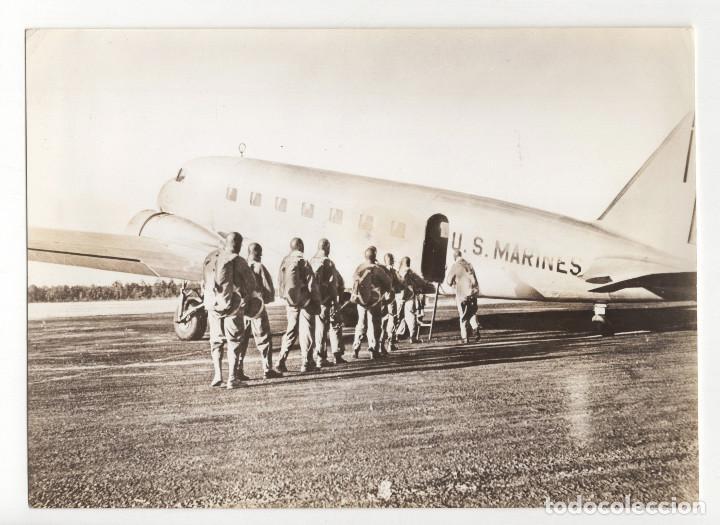 AVIACIÓN.- DOUGLAS DE TRANSPORTE EJERCITO NORTEAMERICANO. 12X16,5. (Militar - Fotografía Militar - II Guerra Mundial)