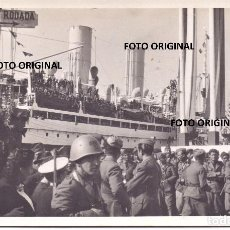 Militaria: DESPEDIDA TROPAS ITALIANAS CTV PUERTO CADIZ 1939 GUERRA CIVIL. Lote 212667033