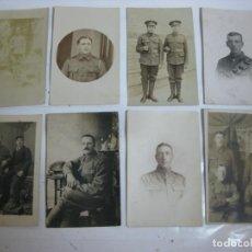 Militaria: LOTE 8 POSTALES DE FOTOS MILITARES - A CLASIFICAR. Lote 214716786
