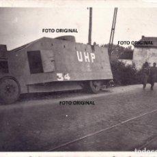 Militaria: CAMION ARMADO TANQUE REPUBLICANO UHP BILBAO GUERRA CIVIL FRENTE NORTE 1937. Lote 216023593