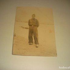 Militaria: ANTIGUA FOTO DE MILITAR. MAHON.. Lote 217156078