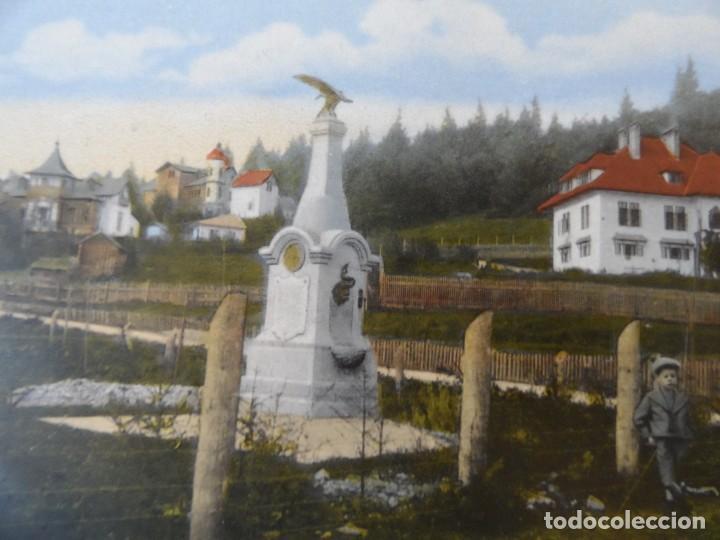 POSTCARD PREDEAL.MUNUMENTUL APELOR 1905.RUMANIA. AUSTRO-HUNGRIA. I GUERRA MUNDIAL. RARA (Militar - Fotografía Militar - I Guerra Mundial)