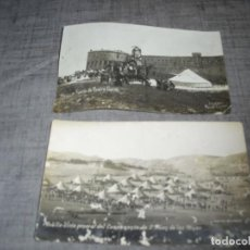 Militaria: FOTO POSTAL MELILLA MILITARES ROSTRO GORDO SAN JUAN MINAS. Lote 217465903