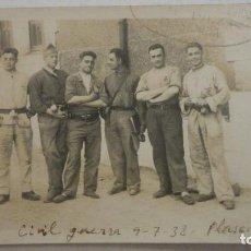 Militaria: ANTIGUA FOTOGRAFIA.MILITARES.CAMPO SUR ESTE.GUERRA CIVIL.FOTO DIEZ.PLASENCIA CACERES 1938. Lote 217650517
