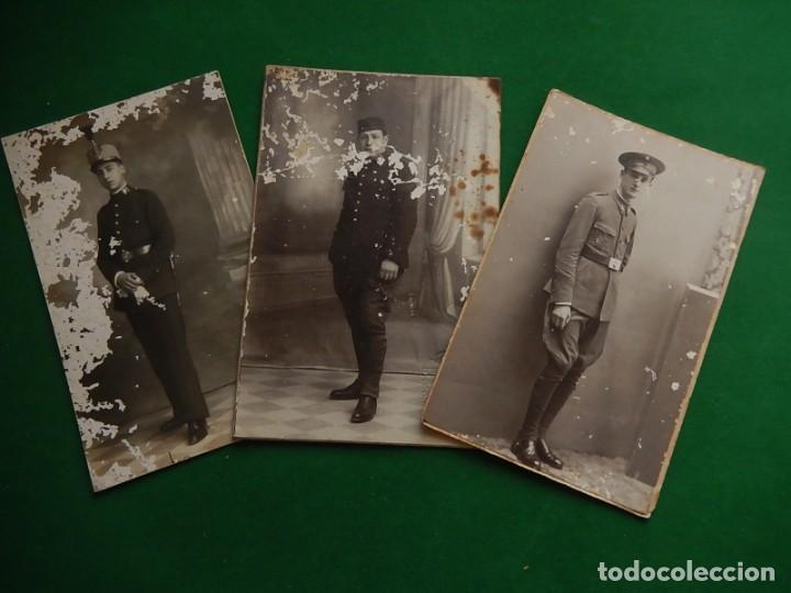 TRES FOTOGRAFÍAS. SOLDADOS. MILITARES. MALLORCA. BALEARES. (Militar - Fotografía Militar - Otros)
